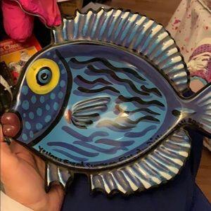 Artisan created in Maui Yellow Eyed Fish dish 10x8